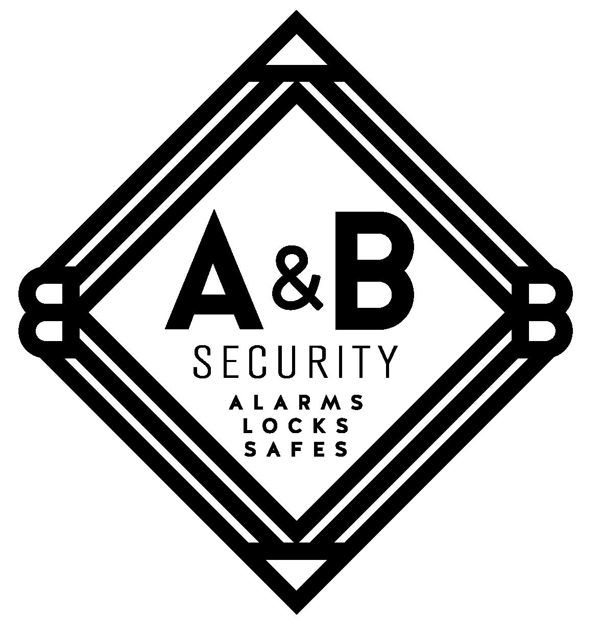 A&B Security Logo Vertical - BLACK